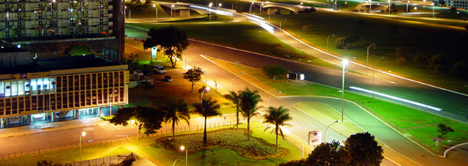 Brasilia at night