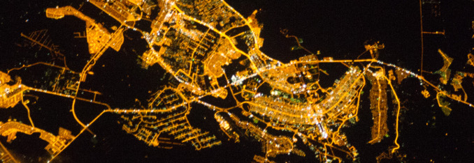 Brasilia at night (Copyright by Nasa)